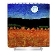 Autumn Moon I Shower Curtain