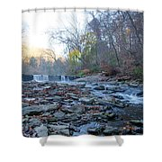 Autumn Morning Along The Wissahickon Creek Shower Curtain