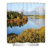 Autumn Morning At Oxbow Bend Shower Curtain