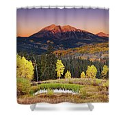 Autumn Mountain Landscape, Colorado, Usa Shower Curtain