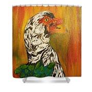 Autumn Muscovy Portrait Shower Curtain