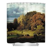 Autumn Oaks , George Inness Shower Curtain