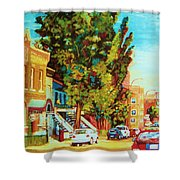 Autumn On Bagg Street Shower Curtain