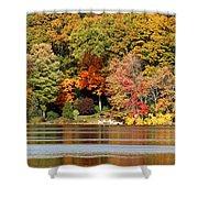 Autumn On Canoe Brook Lake Shower Curtain