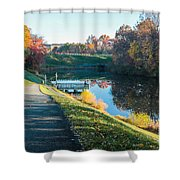 Autumn On Lake Inspiration Shower Curtain