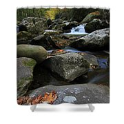 Autumn On Little River In The Smoky Mountains Shower Curtain