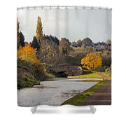 Autumn On The Canal Shower Curtain