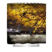 Autumn On The Cove Shower Curtain