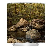 Autumn On The Creek  Shower Curtain