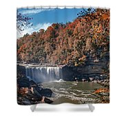 Autumn On The Cumberland  Cumberland Falls Shower Curtain