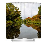 Autumn On The Erie Canal Shower Curtain