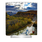 Autumn On The Genesee Shower Curtain