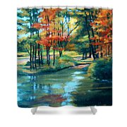 Autumn On The Lake Shower Curtain
