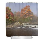 Autumn On The Moose II Shower Curtain