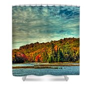 Autumn On The Moose River In Thendara Shower Curtain