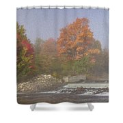 Autumn On The Moose Shower Curtain