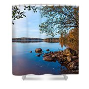Autumn On The Rocks Shower Curtain