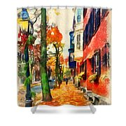 Autumn On The Streets Of Boston Shower Curtain