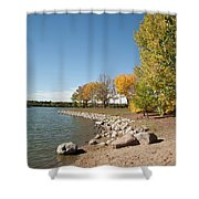 Autumn On The Water Shower Curtain