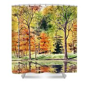 Autumn Oranges Shower Curtain