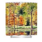 Autumn Oranges Shower Curtain