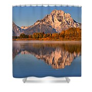 Autumn Oxbow Bend Reflections Shower Curtain