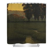 Autumn Pastures Shower Curtain
