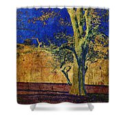 Autumn Pecan Shower Curtain