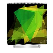 Autumn Polygon Pattern Shower Curtain