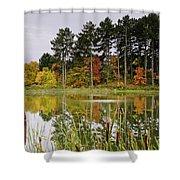Autumn Pond Shower Curtain