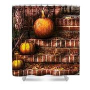 Autumn - Pumpkin - Three Pumpkins Shower Curtain