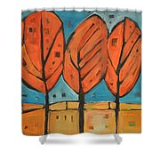 Autumn Quilt Shower Curtain