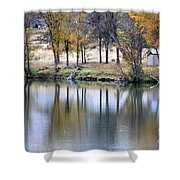 Autumn Reflection 16 Shower Curtain