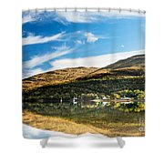 Autumn Reflection, Loch Long Shower Curtain