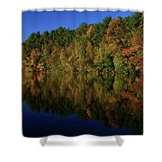 Autumn Reflection Of Colors Shower Curtain