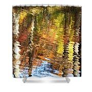 Autumn Reflections-3 Shower Curtain