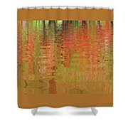 Autumn Reflections Abstract Shower Curtain