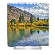 Autumn Reflections At Intake Lake II Shower Curtain