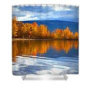 Autumn Reflections At Sunoka Shower Curtain
