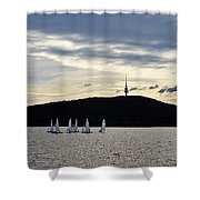 Autumn Regatta Shower Curtain