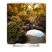 Autumn Rock Garden Shower Curtain