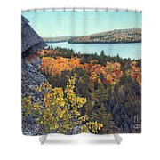 Autumn Rocks Booth's Rock Lookout Shower Curtain