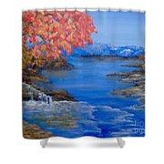 Autumn Shower Curtain by Saundra Johnson