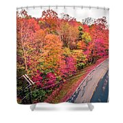 Autumn Season And Color Changing Leaves Season Shower Curtain