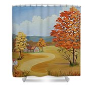 Autumn Season Shower Curtain
