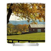 Autumn Shenandoah Barn Shower Curtain