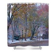 Autumn Snow Shower Curtain