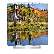 Autumn Splendor - Bolton Flats Shower Curtain
