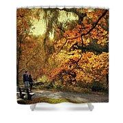 Autumn Splendor Promenade Shower Curtain