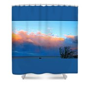 Autumn Storm Clouds And Sunset Shower Curtain